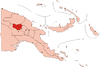 Location of Enga Province in Papua New Guinea.