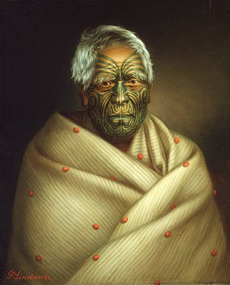 Polynesians - A portrait of Māori man, by Gottfried Lindauer.