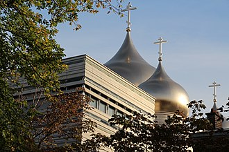 Religion in France - Domes of the Holy Trinity Cathedral of the Russian Orthodox Church in Paris.