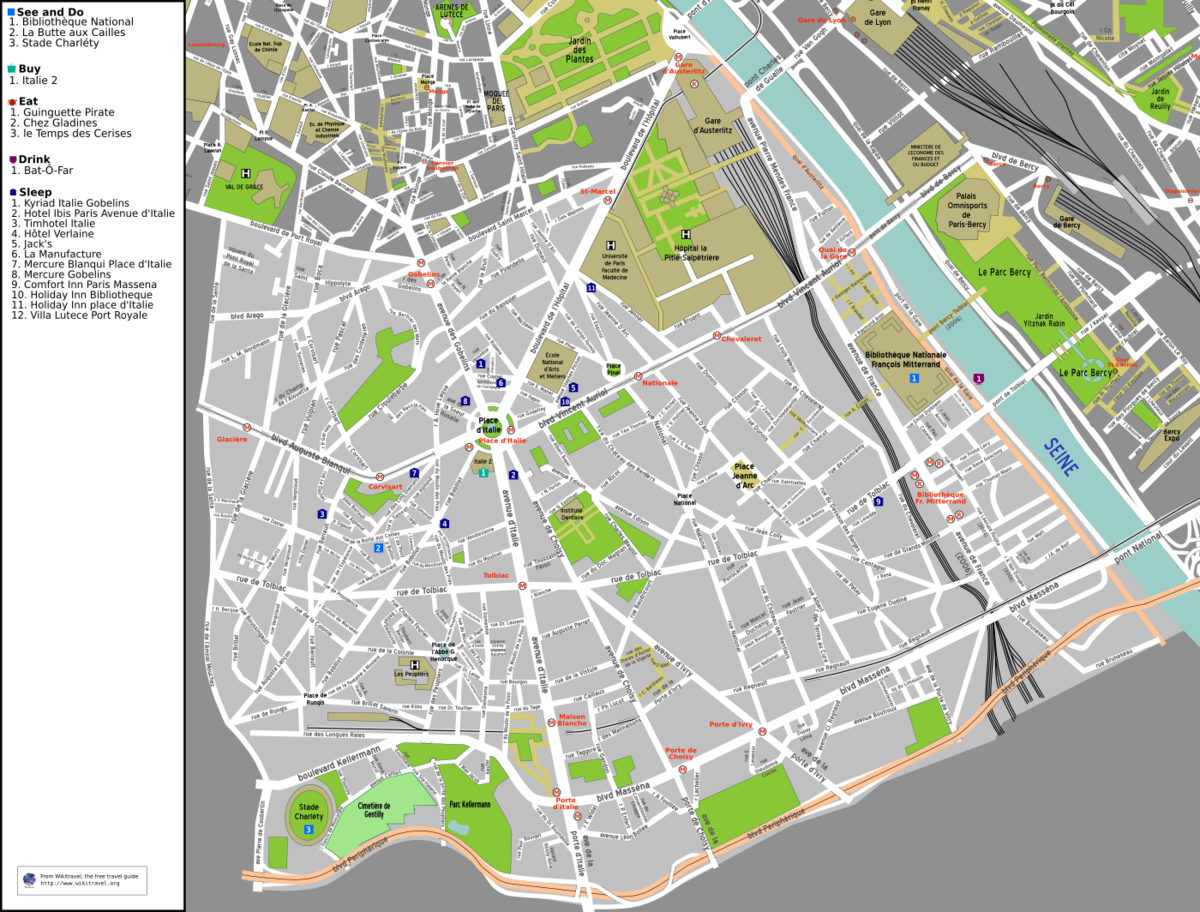 Liste des voies du 13e arrondissement de paris wikip dia for Domon plan b