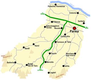 Province of Parma - Image: Parma mappa
