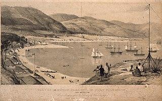 Part of Lambton Harbour, in Port Nicholson, New Zealand.