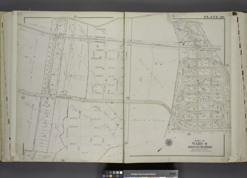File:Part of Ward 4. (Map bound by Amboy Road, Cedarview Ave, Oak Ave, South Side Boulevard, 9th St, 14th St, Baldwin Ave (Jefferson Ave), Cole CT, Cole Place, Bay Terrace) NYPL1646287.tiff