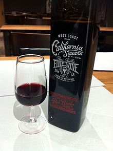 a square wine bottle bottle red wine