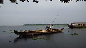 Pathiramanal - Pathiramanal island, view from Muhamma