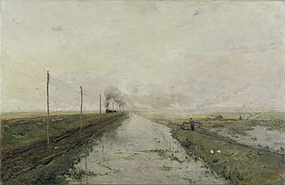 Landscape with a train