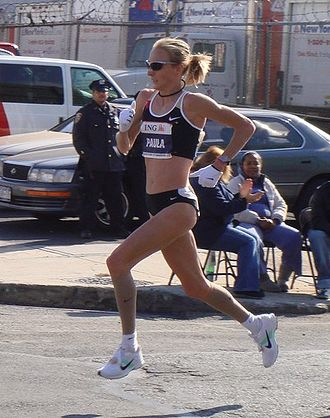 New York City Marathon - Paula Radcliffe, the victor of the women's division in the 2007 NYC Marathon.