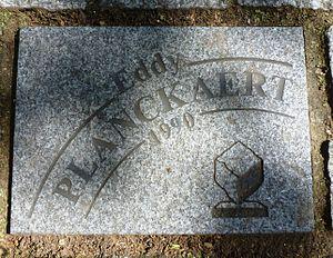 Eddy Planckaert - Cobble stone memorizing Planckaert's 1990 win in Paris–Roubaix