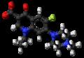 Pefloxacin zwitterion ball.png