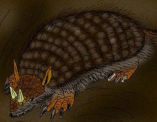 <i>Peltephilus</i> An extinct genus of mammals belonging to the armadillo order of xenarthrans