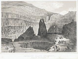 Penrhyn slate quarries, near Bangor