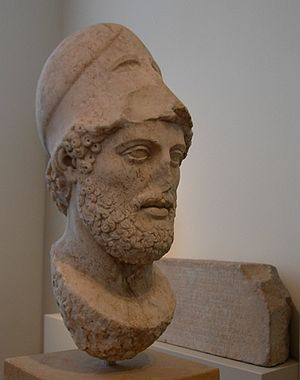 Aspasia - Bust of Pericles, Altes Museum, Berlin.