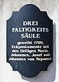 Pest- Dreifaltigkeitssäule in Waidhofen an der Thaya - Schild.jpg