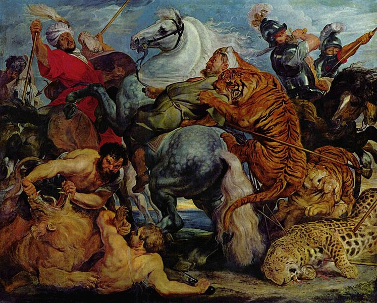 Peter Paul Rubens, animal battle scene