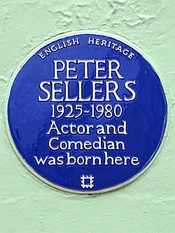 Peter sellers 1925 1980 actor and comedian was born here