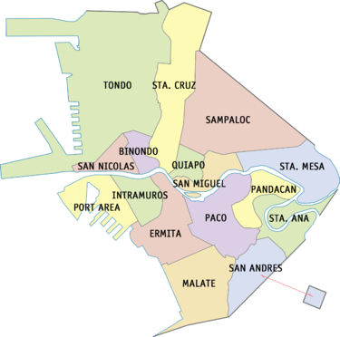 District map of Manila that shows its sixteen districts. Ph fil manila districts.png