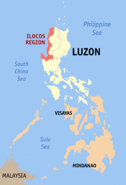 Map of the Philippines showing the location of Region I