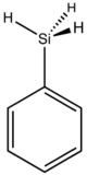 skeletal formula of phenylsilane