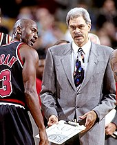 detailed look 03517 37512 Jordan with coach Phil Jackson, 1997