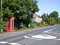 Phone Box, Bus Shelter and Mini-roundabout - geograph.org.uk - 923146.jpg