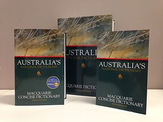 <i>Macquarie Dictionary</i> dictionary of Australian English