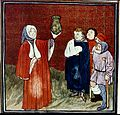 Physician, urine flask, medieval manuscript Wellcome S0000994.jpg