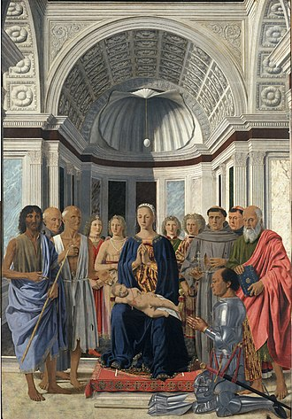 Piero della Francesca - The Montefeltro Altarpiece or the Brera Madonna