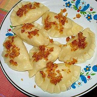 Pierogi Unleavened stuffed pasta of Central and Eastern European origin