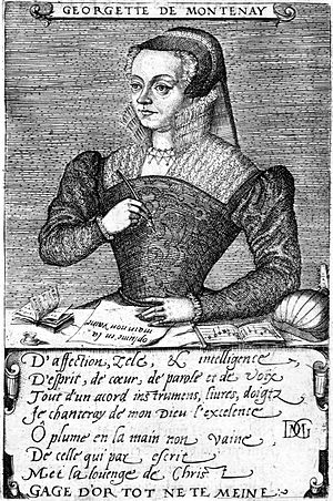 Georgette de Montenay - Georgette de Montenay (1567) by Pierre Woeiriot