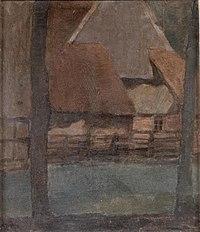 Piet Mondriaan - Rear gable of an Achterhoek farm building - 989.6.1 - Musée Sainte-Croix.jpg
