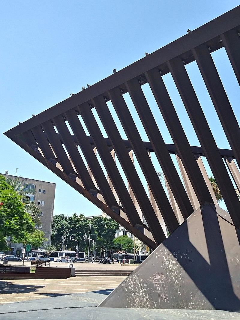 כיכר רבין - אנדרטה