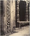 Pillars in the Recessed Portico in the Roya Gopuram with the Base of One of the Four Sculptured Monoliths, Madura MET DP138043.jpg