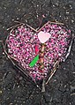 Pink heart of rocks at a doggie memorial in Winnipeg (27106543816).jpg
