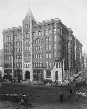 Elmer H. Fisher - Fisher's Pioneer Building, shortly after its completion in 1890.