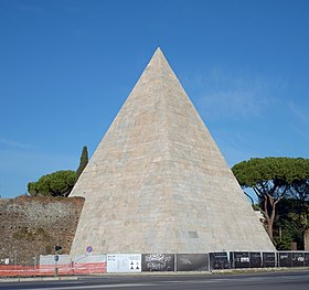 Image illustrative de l'article Pyramide de Cestius