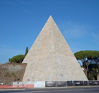pyramid in Rome, Italy