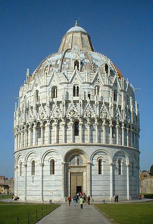 Diotisalvi - Image: Pisa Baptistry 20020323 rectilinear
