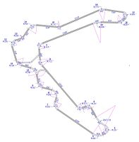 Detailed Geometry Track Map of Pitt Race