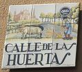 Placa de la calle de las Huertas - Madrid Calle de las huertas 101 (cropped).JPG