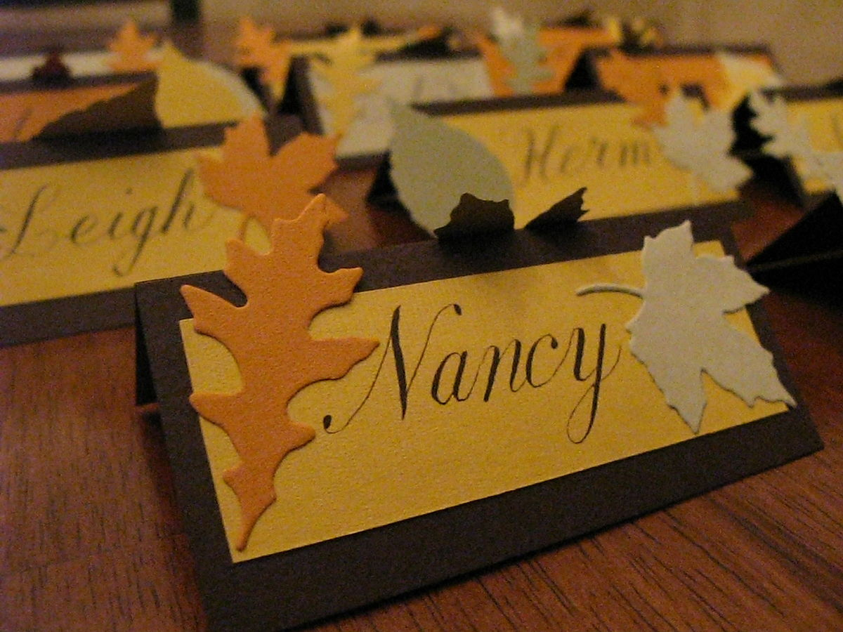 place card wikipedia - Folded Place Cards