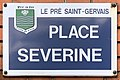 Plaque Place Séverine - Le Pré-Saint-Gervais (FR93) - 2021-04-28 - 1.jpg
