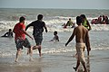 Playful People with Sea Waves - New Digha Beach - East Midnapore 2015-05-01 8770.JPG