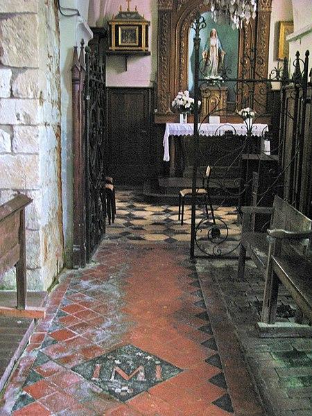 Plomion (Aisne, France) -  Intérieur (côté sud) de l'église fortifiée.   Camera location  49°48′26.8″N, 4°01′09.91″E  View this and other nearby images on: OpenStreetMap - Google Earth    49.807444;    4.019419