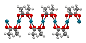 Palladium(II) acetate - Image: Polymeric Pd(O Ac)2 from xtal 2004 Mercury 3D balls A