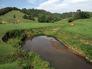 Pond Creek (West Virginia) - Pond Creek northwest of Flinn in 2010