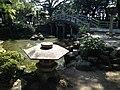 Pond and Shinkyo Bridge of Suiten Shrine.jpg