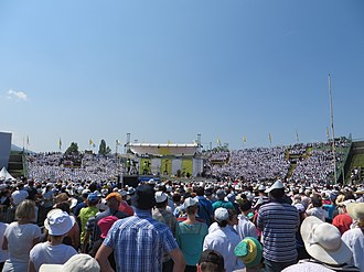 Asim Ferhatović Hase Stadium - Pope Francis celebrating a mass at the stadium in June 2015.