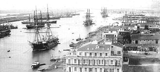 Port Said - Port Said Canal in 1880