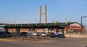 Downtown Commercial Historic District (Burlington, Iowa) - Municipal River Terminal (1928) in 2013.