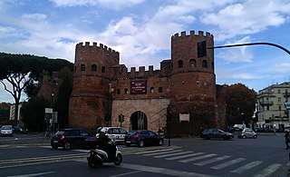 Porta San Paolo building in Rome, Italy